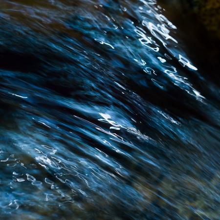 fondos azules: patrón de la cascada abstracto, fondo de la naturaleza Foto de archivo
