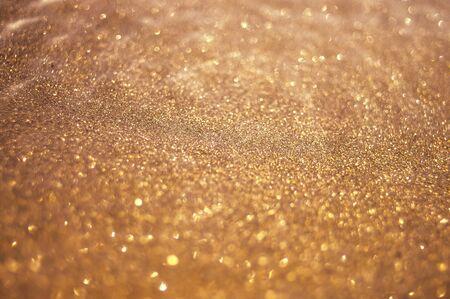 golden sparkle, abstract bokeh background Stok Fotoğraf