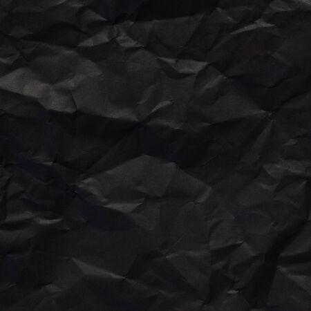 black paper texture background, crumpled pattern Stok Fotoğraf
