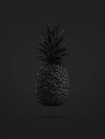 black pineapple on black background Zdjęcie Seryjne - 129220782