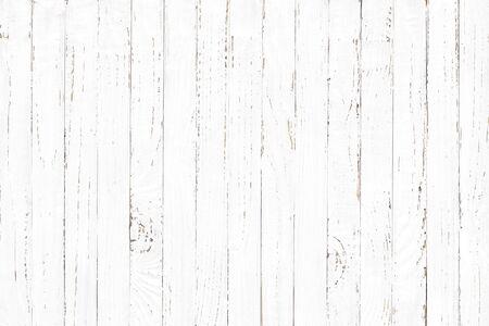 Fondo de textura de madera blanca, patrón de tablón de madera natural