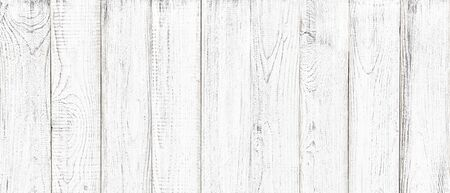 white wood texture background, wide wooden plank panel pattern Standard-Bild