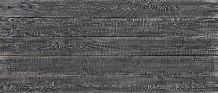 dark wood texture background, wide wooden plank panel pattern Standard-Bild - 141621539