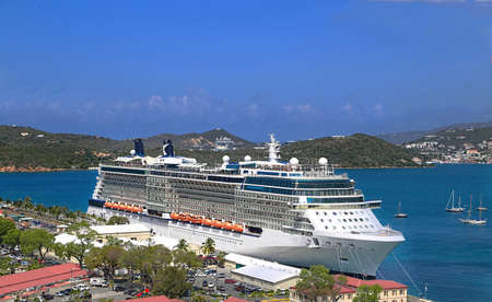 thomas: Cruise ship docked in Saint Thomas Island