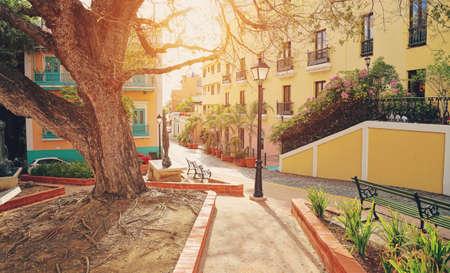 Calles San Juan, Puerto Rico Foto de archivo - 66367285