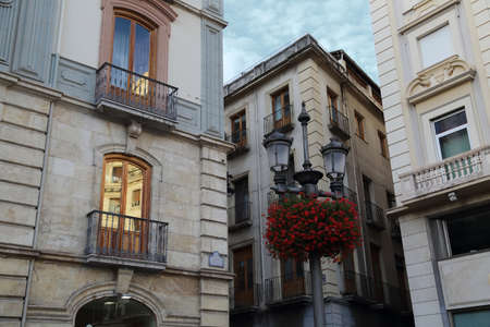 Narrow Granada streets in a historic part of the city