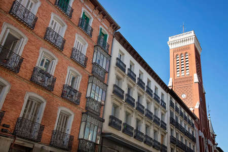Streets of Madrid in Historic part of the City