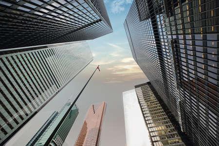 Skyline van het financiële district van Toronto Stockfoto