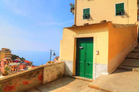 Italy, Riomaggiore colorful streets