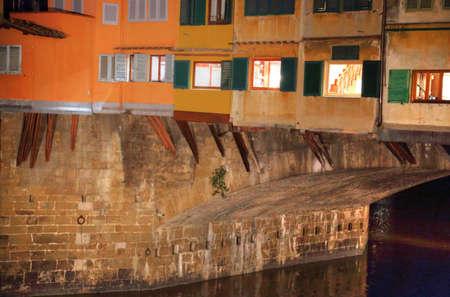 Landmark Ponte Vecchio Bridge Reklamní fotografie