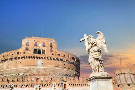 Saint Angelo Castle (Castel Sant'Angelo) in Rome 写真素材