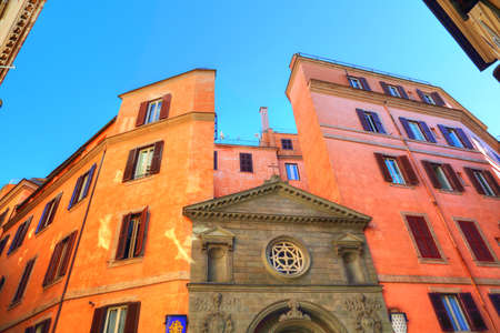 Rome streets in historic part of town
