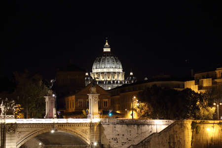 Famous Rome bridges near Vatican City