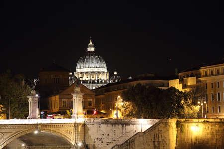 Famous Rome bridges near Vatican City