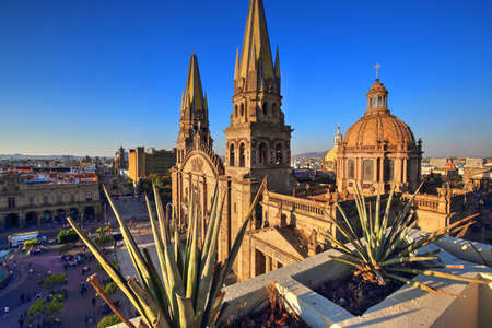 Guadalajara Cathedral (Cathedral of the Assumption of Our Lady), Mexico 스톡 콘텐츠