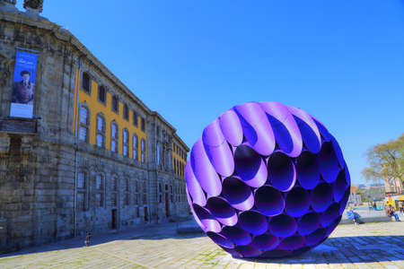PORTO, PORTUGAL-OCTOBER 19, 2017: Eclipse structure in Porto in historic center