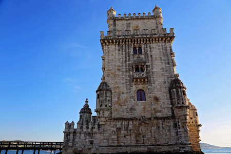 Lisbon, Belem Tower at sunset Редакционное