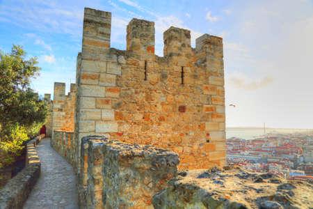 Lisbon, Saint George Castle (Sao Jorge) lookout Editorial