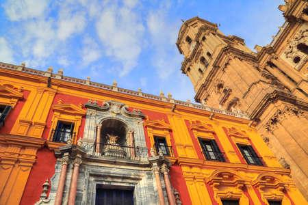 Malaga Central Cathedral Stock Photo