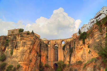 Ronda, Puente Nuevo Arch (Puente Nuevo Bridge)  Reklamní fotografie