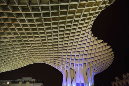 Metropol Parasol in Plaza de la Encarnacion, the biggest wooden structure in Europe