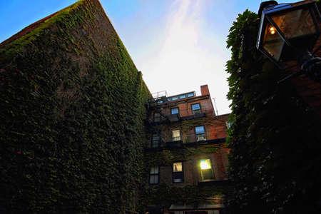 Boston Beacon Hill at sunset Editorial