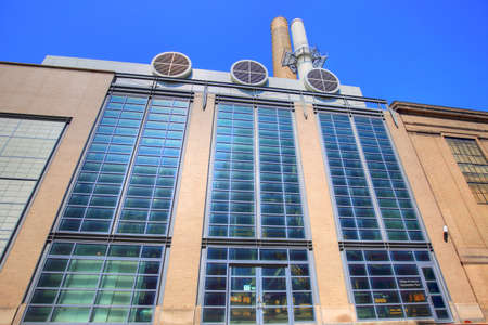William R Dickson cogeneration plant, part of MIT environmental clean energy initiative.