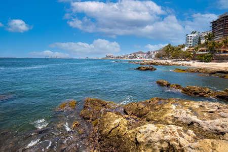 Puerto Vallarta, Conchas Chinas beach and ocean scenic coastline.