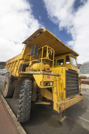 dumper: A big dumper truck in a construction