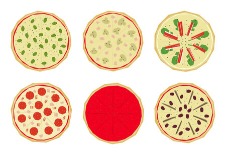 Pizza with differents toppings (1 of 4)