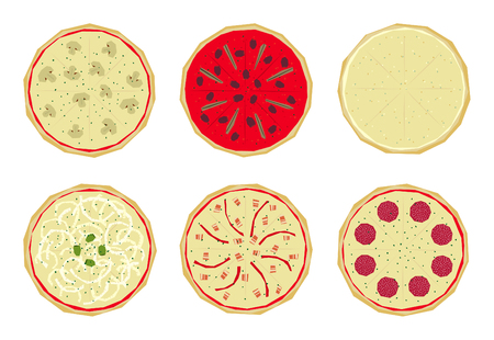 toppings: Pizza with differents toppings (3 of 4)