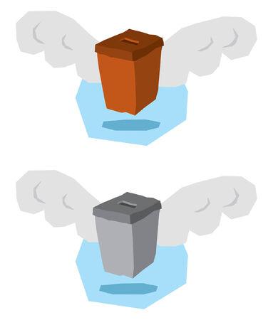 Flying ballot box Vector