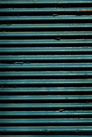 Blue shutter door photo