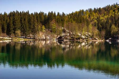 Fusine lakes natural park, Friuli Italy Archivio Fotografico