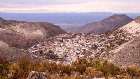 Aerial view of mexican mining town of Real de Catorce