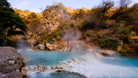 Thermal hot springs Grutas de Tolantongo , in Mexico state