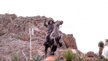 Zacatecas, Mexico, December 21st, 2017: Pancho Villa statue at La Bufa Editorial