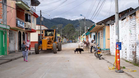 Murillo, Colombia -January, 29th, 2019: street view with daily life and people Editorial