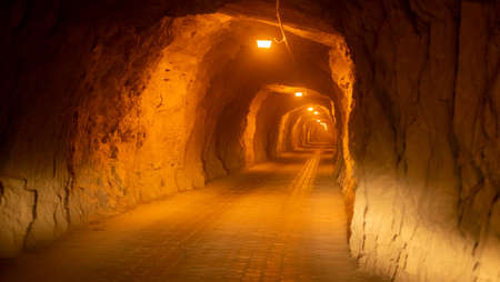 Inside tunnel to mexican town of Real de Catorce, Mexico Stock Photo