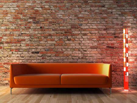 The image of a modern interior Stok Fotoğraf