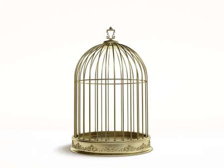 bird cage 3d Reklamní fotografie - 4336256
