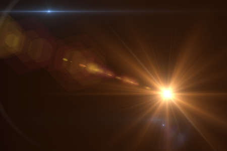 lens: Lens flare effect in space 3D render
