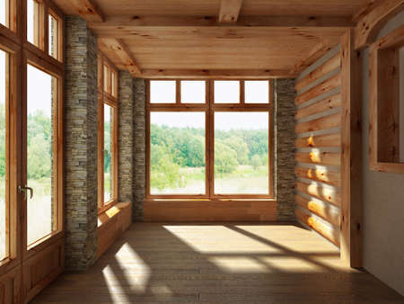 vase plaster: 3D render empty interior room
