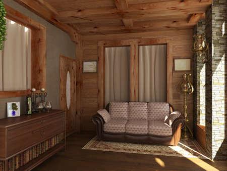 view of a spacious living room: Interior design series: 3D interior