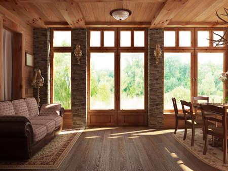 green room: Interior design series: 3D interior