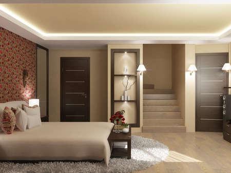 Interior design series: 3D interior Reklamní fotografie - 41307581
