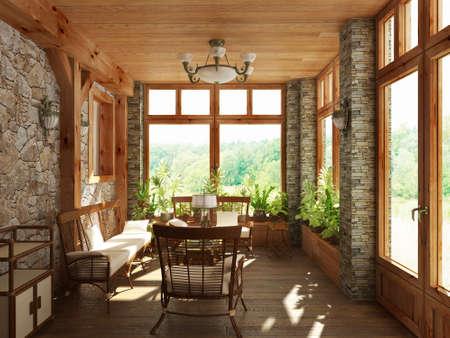 Interior design series: 3D interior Reklamní fotografie - 41307835