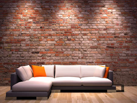 pouffe: Interior design series: 3D interior
