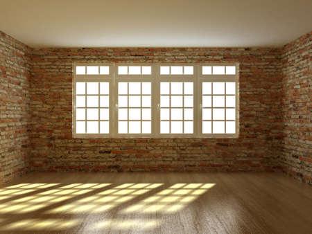 empty interior: 3D render empty interior room