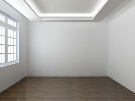 3D render empty interior room